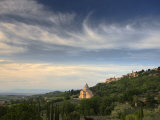 Evening View Towards the Hilltop Town of Montepulciano and the Church of San Biagio  Montepulciano