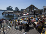 Outdoor Cafe at Mermaid Quay  Cardiff Bay  Cardiff  Wales  United Kingdom  Europe