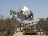 Jay Pritzker Pavilion Designed by Frank Gehry  Millennium Park  Chicago  Illinois