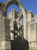 Part of the 12th Century Fountains Abbey  Near Ripon  North Yorkshire