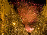 Christmas Lights Along Parizska Street and New Years Day Fireworks