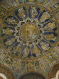 The Mosaic Ceiling of the 5th Century Battistero Neoniano  Ravenna  Emilia-Romagna
