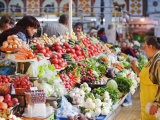Fruit and Vegetable Stands  Bessarabsky Rynok Market  Kiev  Ukraine  Europe