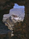 Potala Palace  Seen Through Ruined Fort Window  Lhasa  Tibet
