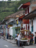 Street View of the Colonial Town of Salento  Colombia  South America