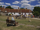 Village Green and Pub in East Dean  East Sussex  England  United Kingdom  Europe