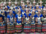 Elaborate Costumes Worn at a Traditional Miao New Year Festival in Xijiang  Guizhou Province