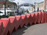 Red Telephone Box Sculpture Out of Order by David Mach Kingston Upon Thames  Surrey