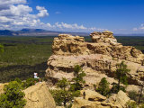 Escarpment and Lava Beds in El Malpais National Monument  New Mexico