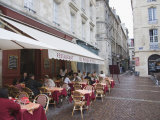 Terrace Seating at Restaurant in Place Saint-Pierre  Bordeaux  Gironde  France  Europe