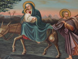 The Flight into Egypt  St Anthony Coptic Church  Jerusalem  Israel  Middle East