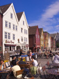 The Historic District of Bryggen in Bergen  Norway  Scandinavia  Europe