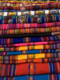 Textiles for Sale in the Market in the Village of Pisac  the Sacred Valley  Peru  South America