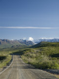 View Down the Denali Highway  Alaska  United States of America  North America