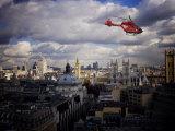 London Air Ambulance over Westminster  London  England  United Kingdom  Europe