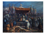 Richard the Lionheart  1157-99 King of England  Surrendering to Saladin