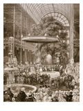 Inauguration in 1851 of Great Exhibition by Victoria  Queen of England  Crystal Palace  London