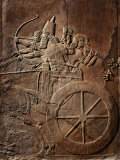 King Ashurbanipal on his Chariot  Assyrian Reliefwork  from Palace at Nineveh  650 BC