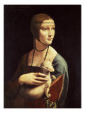 Cecilia Gallerani, Mistress of Ludovico Sforza, Portrait Known as Lady with the Ermine, c. 1490 Giclée par Leonardo Da Vinci