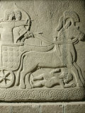 King Striking Down Enemies from his Chariot  Relief  10th-8th century BC