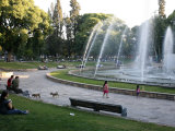 Plaza Independencia  the Main City Square  Mendoza  Argentina  South America