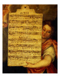 Music Score from Magnificat for 4 Voices  Composed by Cornelius Verdonck 1563-1625