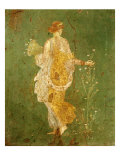 Goddess Flora  or Spring  Roman  Fresco  from Villa di Arianna