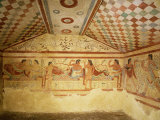 Etruscan Tombs at Tarquinia  Italy  6th century BC