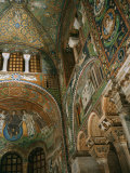 Interior Showing Apse  Basilica San Vitale  6th century AD  Ravenna