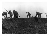 Going Over the Top  Soldiers Climbing over Trench on First Day of Battle of Somme  July 1  1916