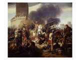 Eudes I  Capetian King of France  then Count of Paris  defending Paris against Norman invasion