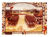 Battle of Agincourt  English army of King Henry V defeated French under Charles d'Albret