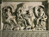 The Tellus (Allegory of Fecund Earth Surrounded by Waters and Winds)  Relief  Monumental Altar