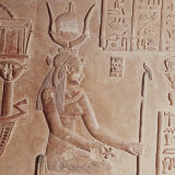 Limestone Relief of Cleopatra VII  51-30 BC  Temple of Hathor  Roman period  Dendera  Egypt