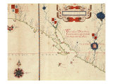 Lower California and West Coast of Mexico  Hydrographic Atlas of 1571 by Fernan Vaz Dourado