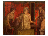 Women Performing Cult of Eleusinian Mystery  Fresco  from Villa of Mysteries  Pompeii