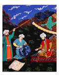 Astronomers and Geographers in a Mountainous Country  Ottoman Miniature  17th century