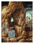 Saint Jerome  341-420 AD  as Hermit in a Cave