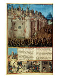 Capture and Sack of Antioch in 1098  First Crusade  French manuscript 15th century