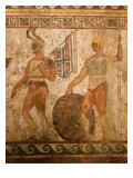 Samnite Warriors  Fresco from Paestum  4th century BC