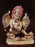 Heruka  Buddhist God  Emanation of the Buddha Aksobhya  Gilded Bronze  18th century
