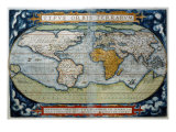 World from Atlas by Abraham Ortelius Theatrum