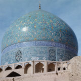 Outer Dome  with Enamelled Faience Tiling  Imam Mosque  1611-1626  Isfahan  Iran