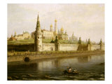 View of the Kremlin in Moscow  Russia  from the Kameny (Stone) Bridge  1818
