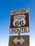 Road Sign Along Historic Route 66  New Mexico  United States of America  North America