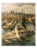 Liner Queen Elizabeth Takes Refuge in New York 1940