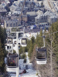 Cable Car Above Whistler Resort  Venue of the 2010 Winter Olympic Games  British Columbia  Canada