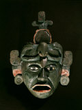 Mask in Jade and Shell Mosaic  Mayan Early Classical period 300-600 AD  Tikal  Guatemala