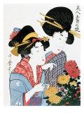 Chrysanthemums  Ukiyo-e print  Japan