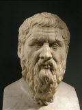 Plato  428-348 BC  Greek philosopher  Marble Bust